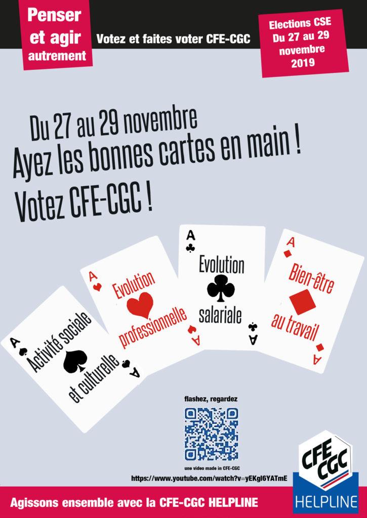 Ayez les bonnes cartes en main Votez CFE-CGC